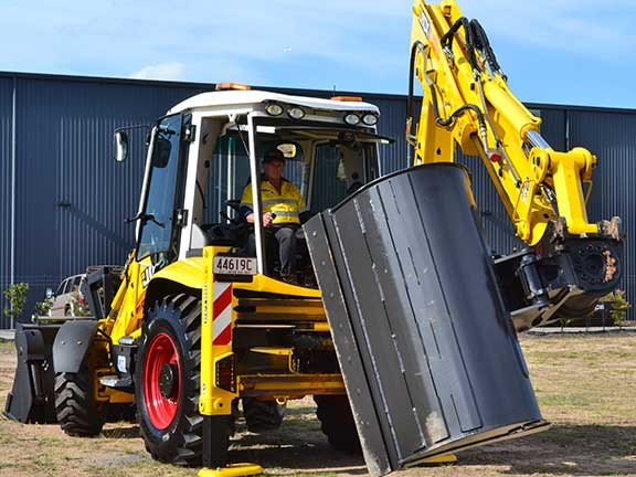 Rear shot of JCB 3CX