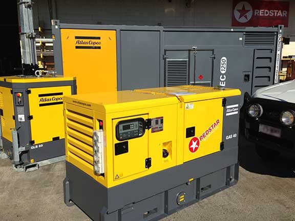 Atlas Copco generator at Redstar Equipment