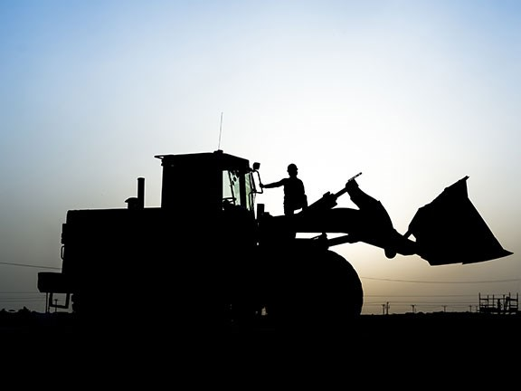 Wheel loader silhouette