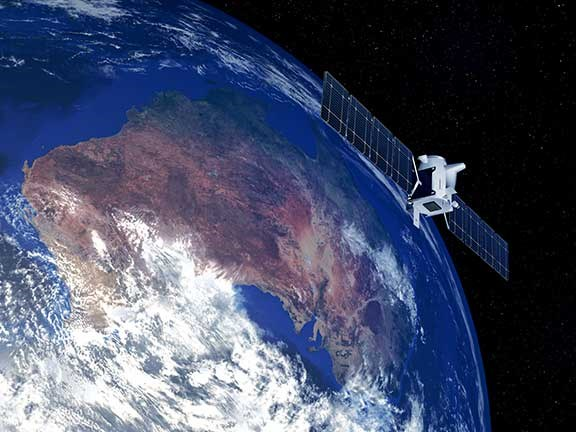 Sattelite orbiting over Australia