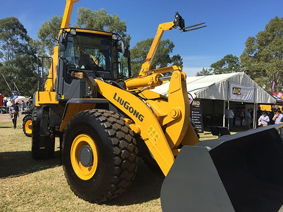 A LiuGong wheel loader at DDT 2016