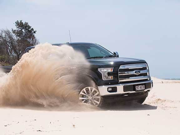 Ford F150 on a beach