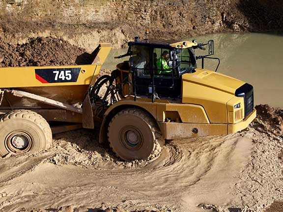 Cat 745 articulated truck