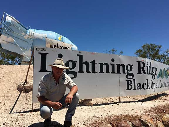 Ron Horner in Lightning Ridge