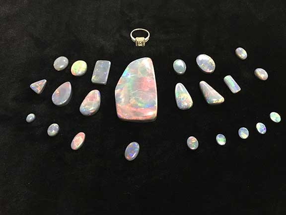 Opals on display
