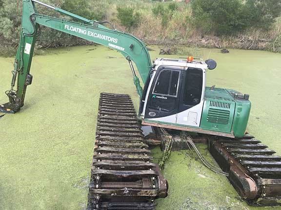 Floating Heking excavator