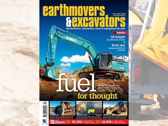 Earthmovers and Excavators issue 333 cover
