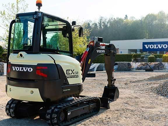 Volvo reveals electric mini-excavator prototype