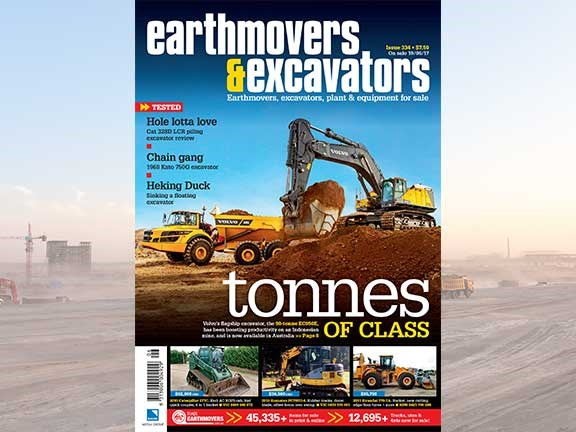 Earthmovers & Excavators issue 334 front cover