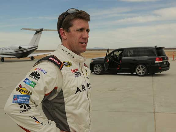 Carl Edwards and Toyota LandCruiser