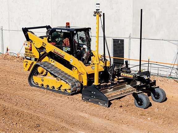 2 Blade Box Cat : Cat d compact track loader and box blade attachment