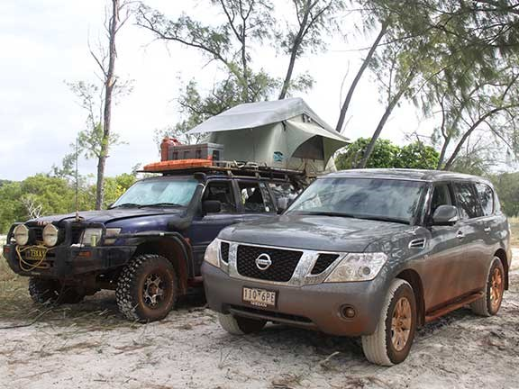 Old and new Nissan Patrol 4x4 vehicles