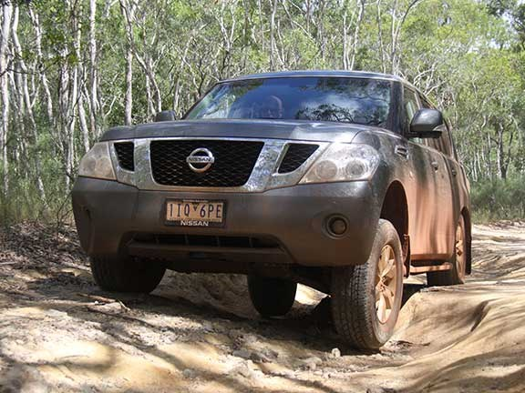 Nissan Patrol 4x4 front view