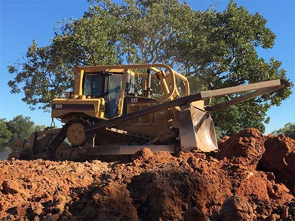 Cat D6R dozer working