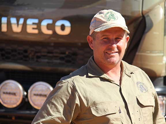 Scott McLean and Iveco ML150 Eurocargo 4x4