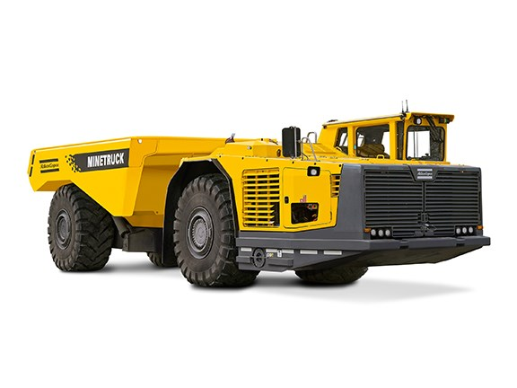 Atlas Copco's upgraded Minetruck MT42 42-tonne articulated underground mining truck.