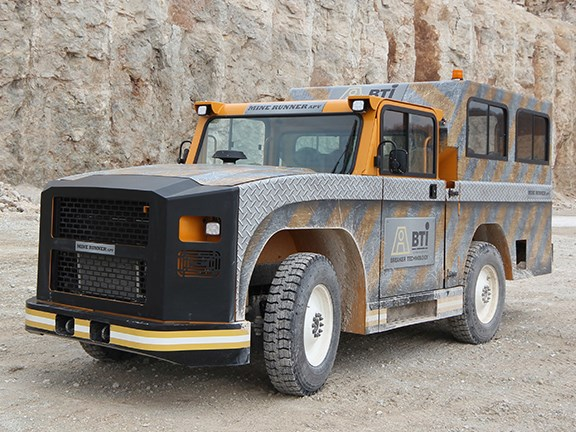 The BTI Minerunner all-purpose underground light vehicle