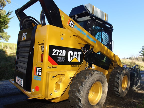 The Caterpillar 272D skid-steer loader.