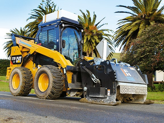 Cat's 272D XHP skid-steer features a powerful engine and high-output hydraulic system