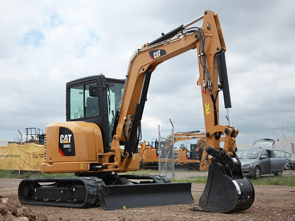 The Cat 305E2 compact radius excavator is part of the new E2 range of excavators.