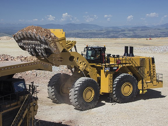 The 239-tonne Caterpillar 994K wheel loader