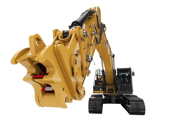 Caterpillar's Pin Grabber Coupler for hydraulic excavators.