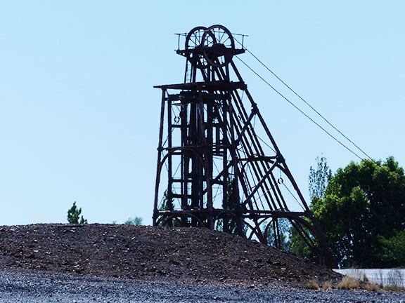 Chesney mine headframe gallery