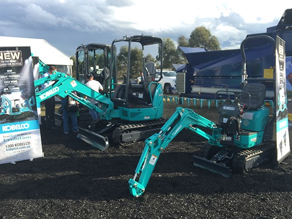 Kobelco Australia general manager Doug McQuinn told us the company's mini and mid-sized excavators were walking out the doors, with a lot of interest in the new SK008 one-tonner.