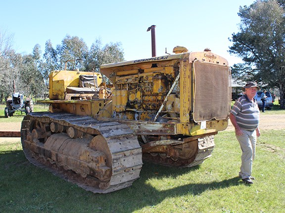 It's seen better days, but this old Caterpillar crawler tractor is still impressive.