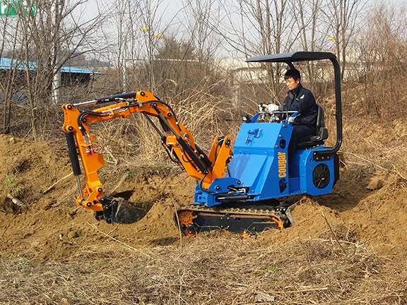 Cougar EXL25 series all-in-one loader excavator.