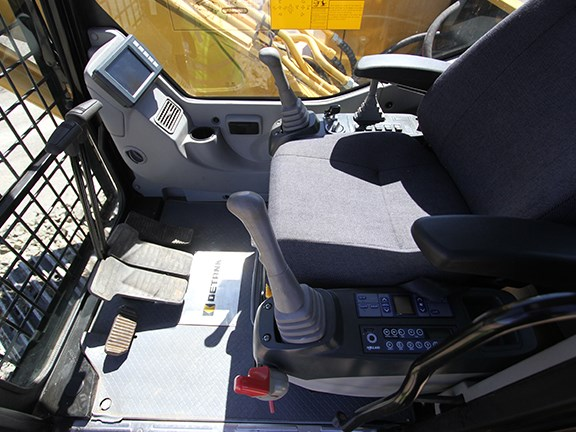 The Detank DE150BD excavator has one of the better cabin layouts.