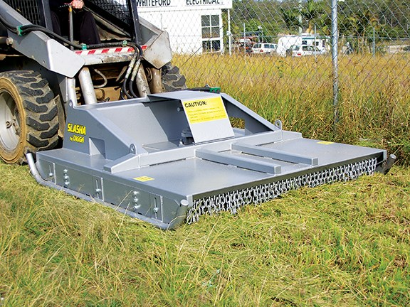 The Digga Slasha is a slashing attachment for skid steer loaders.