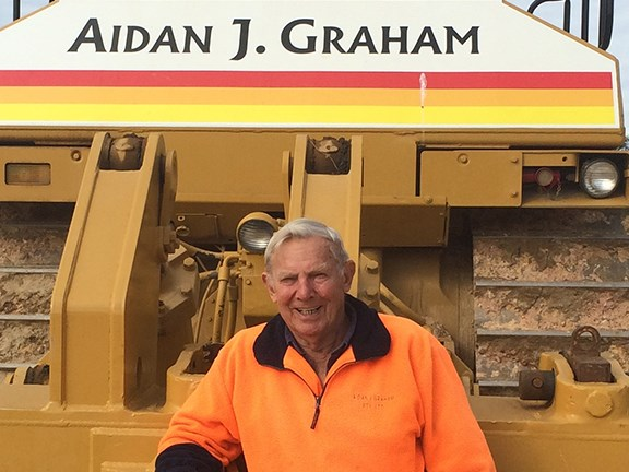 Ray says he loves working for Aiden J Graham quarries.