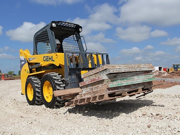The Gehl R135 skid-steer loader.