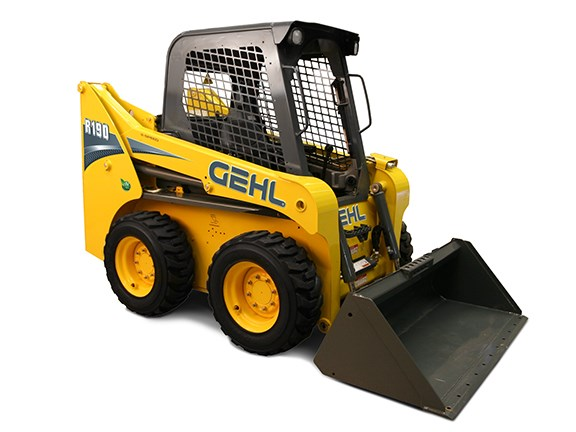 The Gehl R190 radial-lift skid-steer loader.