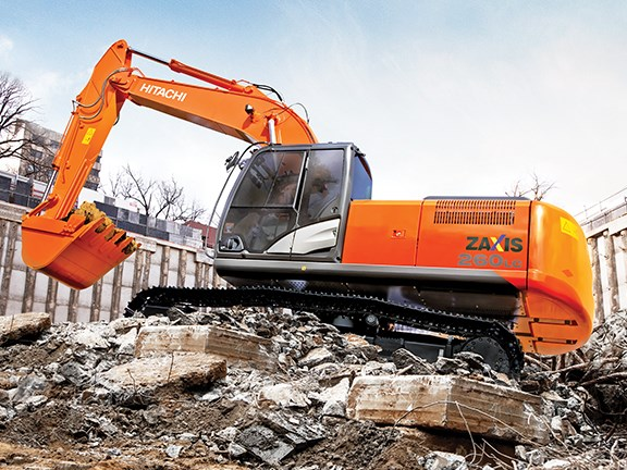 Hitachi ZAXIS-5 excavators.