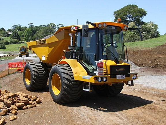 The Hydrema 912HM dump truck on the Sayer Civil site in the Sunshine Coast hinterland.