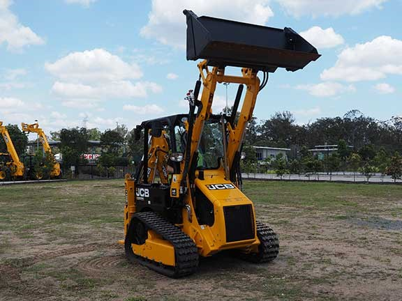 JCB 1CXT backhoe loader with bucket raised