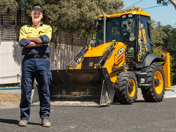 Eric Bast and BJB Excavations' JCB 3CX backhoe loader.