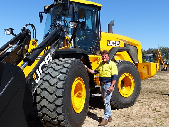Ron Horner with the new JCB 457HT wheel loader.