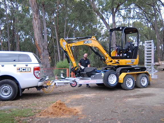 Brendan Clarke delivers the modified JCB 8025 ZTS excavator.