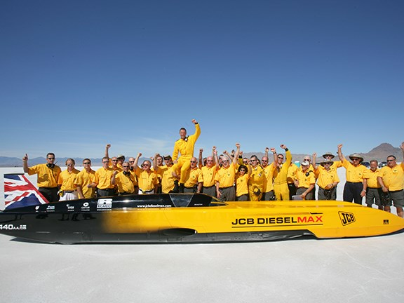 JCB Dieselmax land speed record anniversary