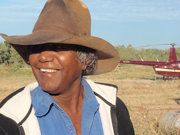 Jimmy Shandley, an elder of the Goondiyandi indigenous community based at Fitzroy Crossing.