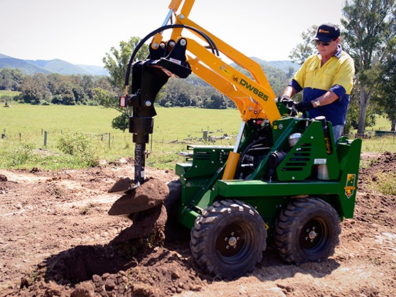 There are up to 70 optional attachments for the Kanga loaders.