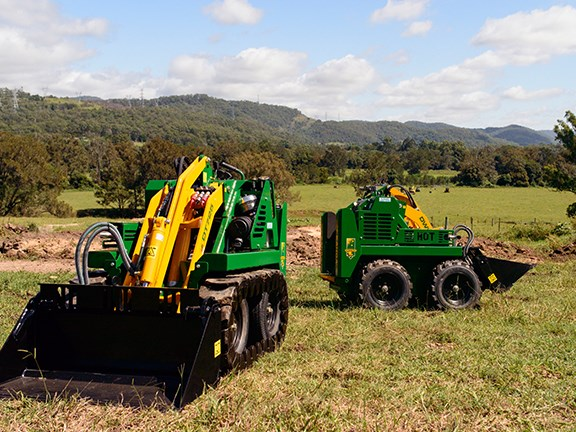 Kanga loaders are available in both wheeled and tracked configurations.