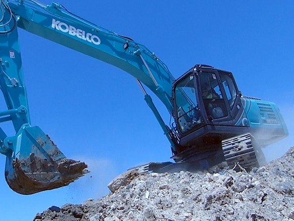 Kobelco's SK210LC-10 excavator is part of the new, improved Gen 10 range.