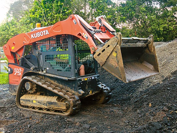 The Kubota SVL75 compact track loader is a versatile beast.