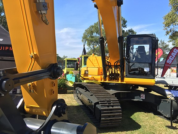 This 31.3-tonne LiuGong 930E excavator was part of the range launched at DDT by AWD Group.