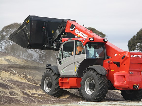 The Manitou MLT-X 960 telehandler can pick up 6 tonnes with the boom retracted.