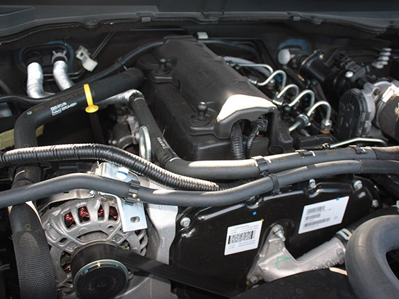 Our base-spec cab-chassis 4x2 Hi-Rider XT version which was powered by the 2.2-litre, 4-cylinder diesel powerplant.
